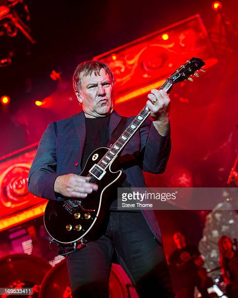 Alex Lifeson at LG Arena on May 26, 2013 in Birmingham, England.