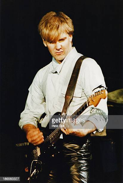 Alex Lifeson of Rush performs on stage at Wembley Arena on May 20th 1983 in London England