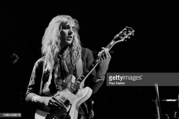 Alex Lifeson of the band Rush performs at the Aragon Ballroom in Chicago Illinois January 7 1978