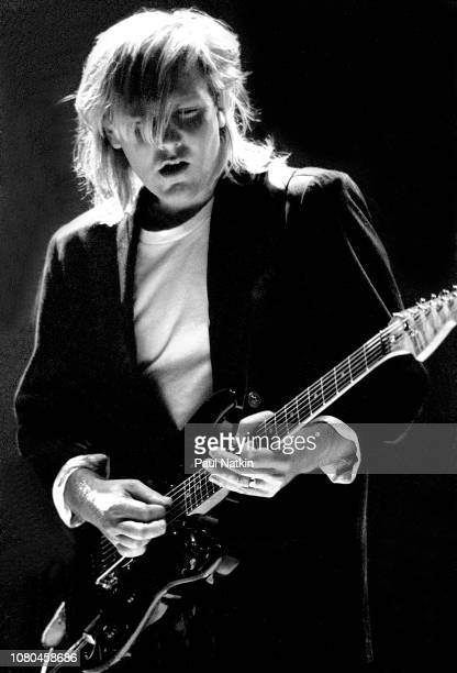 Alex Lifeson of the band Rush performs at the Rosemont Horizon in Rosemont Illinois June 2 1995