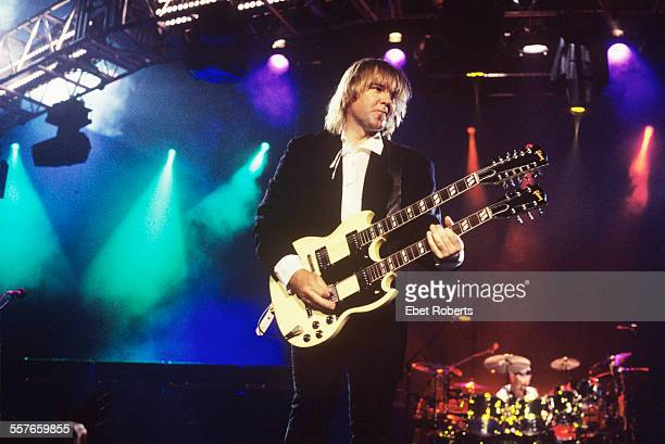 Alex Lifeson performing with Rush at Madison Square Garden on March 8 1994