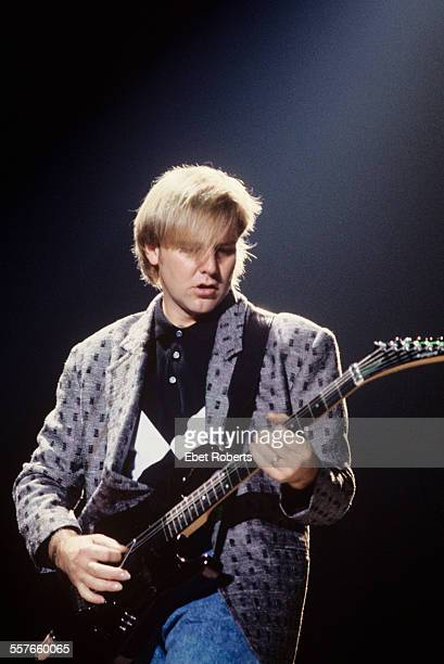 Alex Lifeson performing with Rush in Troy NY on November 12 1987