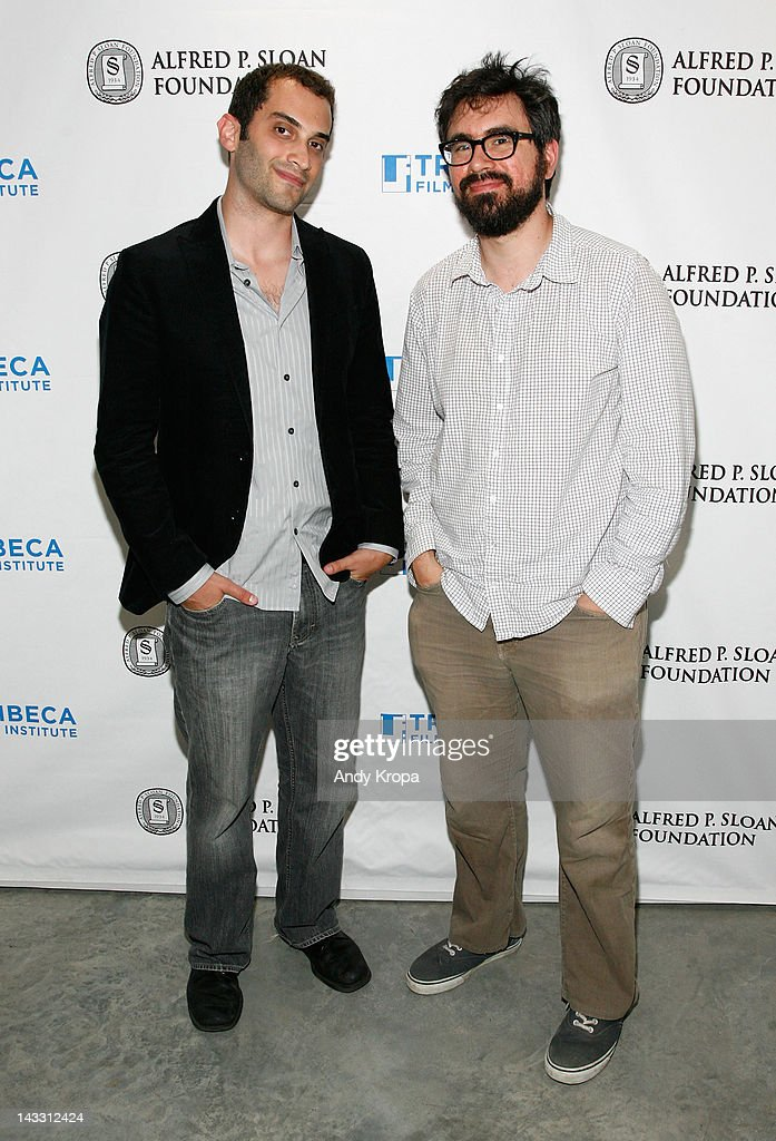 Alex Lipschultz and director, actor Andrew Bujalski attend the Sloan WIP Readings & Cocktails during the 2012 Tribeca Film Festival at The Green Space on April 23, 2012 in New York City.