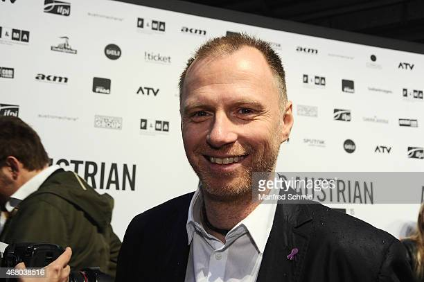 Alex List poses for a photograph during the Amadeus Austrian Music Awards 2015 at Volkstheater on March 29 2015 in Vienna Austria