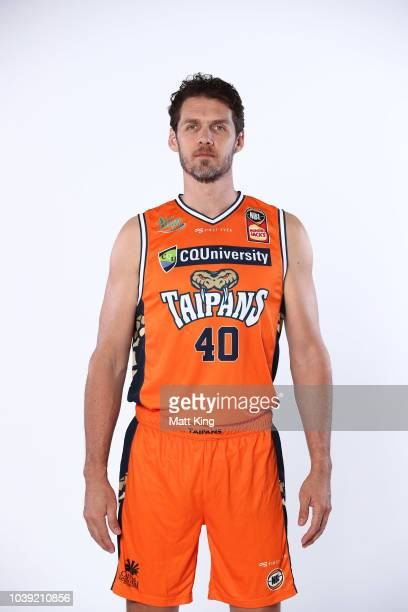 Alex Loughton of the Cairns Taipans poses during the 2018/19 NBL media day at Bendigo Stadium on September 21 2018 in Bendigo Australia