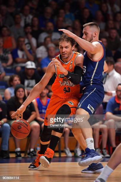 Alex Loughton of the Taipans drives to the basket during the round 14 NBL match between the Adelaide 36ers and the Cairns Taipans at Titanium...