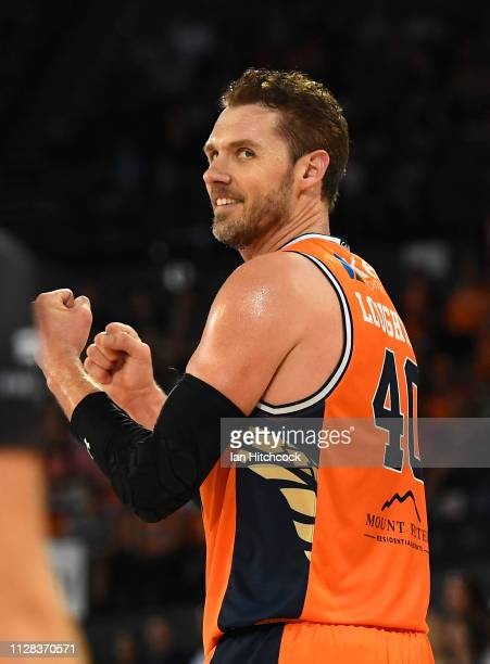 Alex Loughton of the Taipans gestures during the round 17 NBL match between the Cairns Taipans and the Brisbane Bullets at Cairns Convention Centre...
