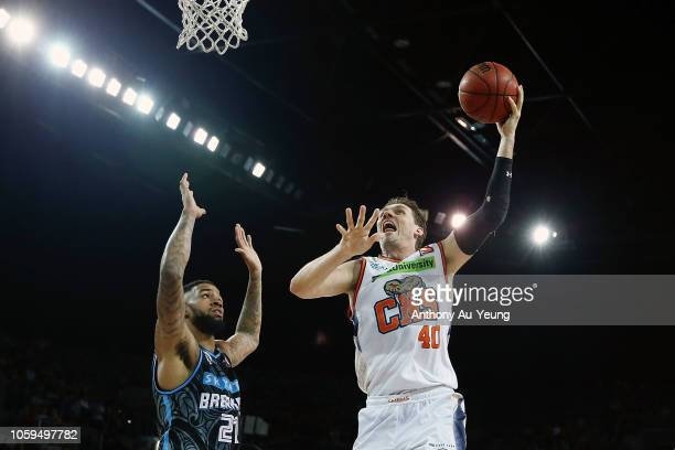 Alex Loughton of the Taipans puts up a shot during the round five NBL match between the New Zealand Breakers and the Cairns Taipans at Spark Arena on...
