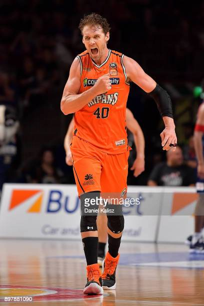 Alex Loughton of the Taipans reacts during the round 11 NBL match between the Adelaide 36ers and the Cairns Taipans at Titanium Security Arena on...