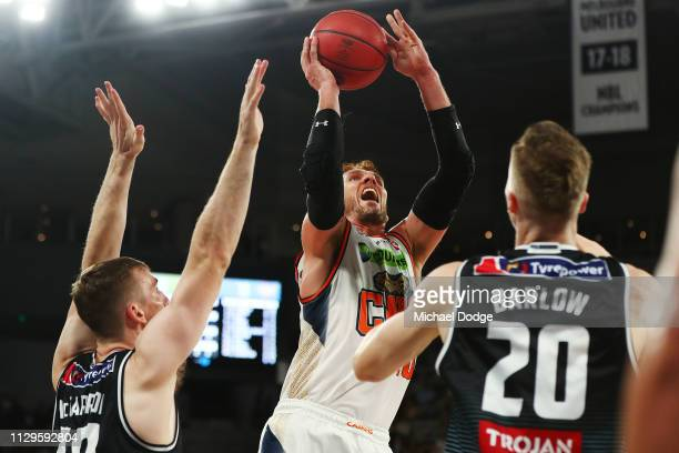 Alex Loughton of the Taipans shoots the ball during the round 18 NBL match between Melbourne United and the Cairns Taipans at Hisense Arena on...