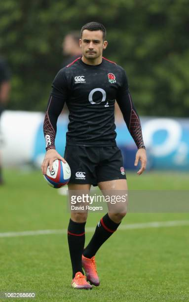 Alex Lozowski looks on during the England captain's run at Pennyhill Park on November 16 2018 in Bagshot England