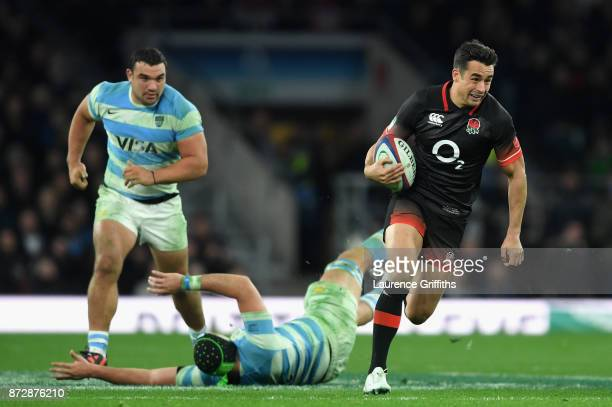 Alex Lozowski of England on the charge during the Old Mutual Wealth Series match between England and Argentina at Twickenham Stadium on November 11...