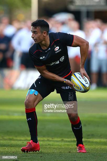 Alex Lozowski of Saracens in action during the pre season friendly match between Saracens and London Scottish FC at Honourable Artillery Company on...