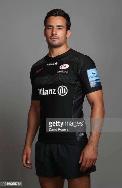 Alex Lozowski of Saracens poses for a portrait during the Saracens squad photo call for the 201819 Gallagher Premiership Rugby season on August 13...
