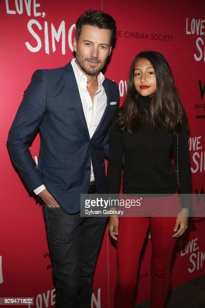 Alex Lundqvist and Karolina Lundqvist attend 20th Century Fox Wingman host a screening of 'Love Simon' on March 8 2018 in New York City