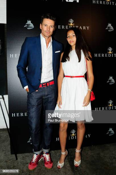 Alex Lundqvist and Karolina Lundqvist attend A24 Hosts A Screening Of Hereditary at Metrograph on June 5 2018 in New York City
