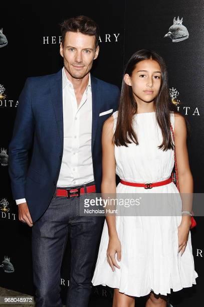 Alex Lundqvist and Karolina Lundqvist attends the Hereditary New York Screening at Metrograph on June 5 2018 in New York City