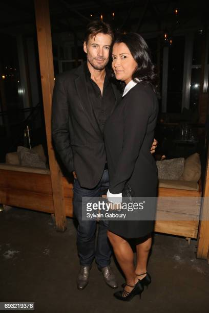Alex Lundqvist and Keytt Lundqvist attend Gucci The Cinema Society host the after party for Roadside Attractions' 'Beatriz at Dinner' on June 6 2017...