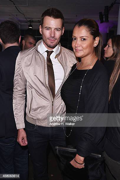 Alex Lundqvist and Keytt Lundqvist attend the Battersea Power Station launch party to celebrate the launch of its Global Tour at Canoe Studios on...