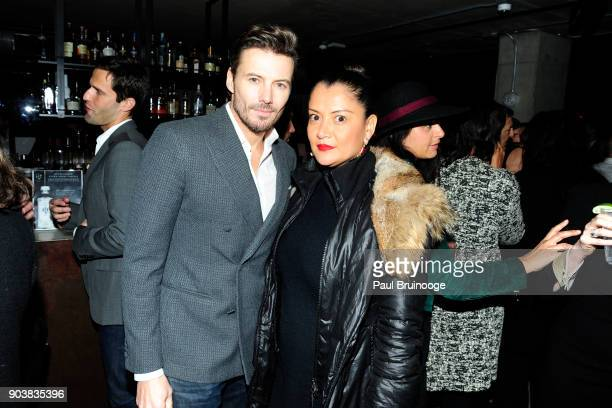 Alex Lundqvist and Keytt Lundqvist attend The Cinema Society Bluemercury host the after party for IFC Films' 'Freak Show' at Public Arts on January...