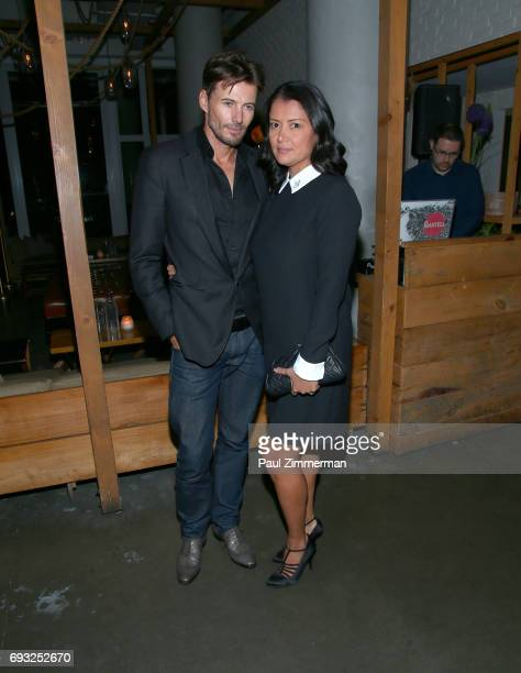 """Alex Lundqvist and Keytt Lundqvist attend the Gucci & The Cinema Society after party of Roadside Attractions' """"Beatriz At Dinner"""" at Mr. Purple on..."""
