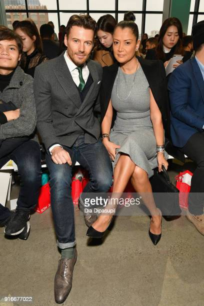 Alex Lundqvist and Keytt Lundqvist attend the Son Jung Wan fashion show during New York Fashion Week The Shows at Gallery I at Spring Studios on...