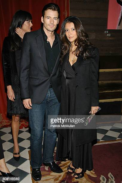 Alex Lundqvist and Keytt Mitsunobi attend CALVIN KLEIN INC Wilhelmina Models Surprise Party for GABRIEL AUBRY at Rose Bar @ The Gramercy Park Hotel...