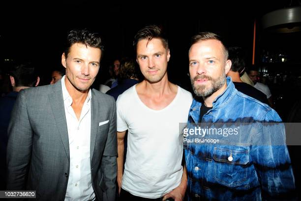 Alex Lundqvist and Simon Spurr attend Columbia Pictures And The Cinema Society With Wild Turkey Longbranch Host The After Party For White Boy Rick at...