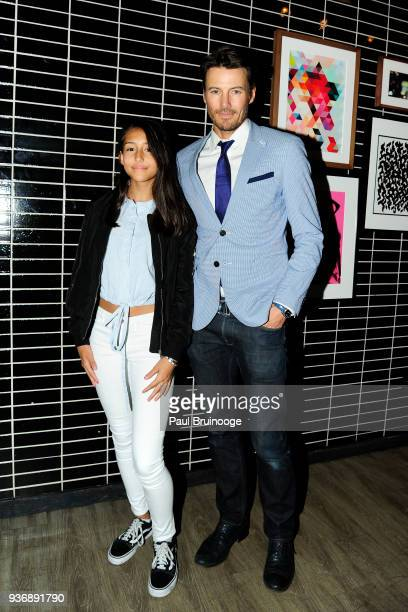 Alex Lundqvist attends The Cinema Society Day Owl Rose host the after party for Global Road Entertainment's 'Midnight Sun' at The Skylark on March 22...