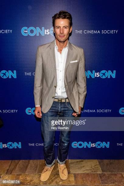 Alex Lundqvist attends 'The Con Is On' New York Screening by the Cinema Society at The Roxy Cinema on May 2 2018 in New York City