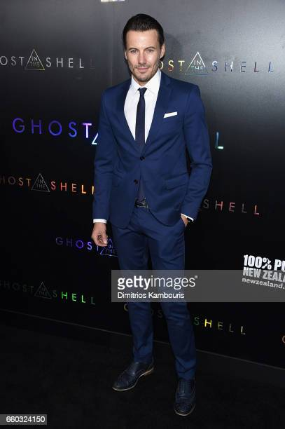 Alex Lundqvist attends the 'Ghost In The Shell' premiere hosted by Paramount Pictures DreamWorks Pictures at AMC Lincoln Square Theater on March 29...