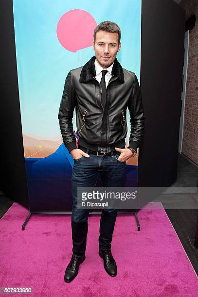 Alex Lundqvist attends the Stephen F fashion show during New York Fashion Week Men's Fall/Winter 2016 on February 1 2016 in New York City