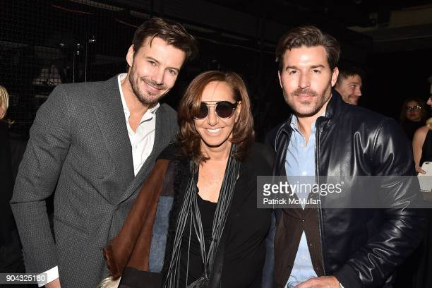 Alex Lundqvist Donna Karan and Benjamin Thigpen attend The Cinema Society Bluemercury host the after party for IFC Films' 'Freak Show' at Public Arts...