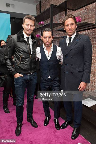 Alex Lundqvist fashion designer Stephen Ferber and Henrik Lundqvist attend the Stephen F fashion show during New York Fashion Week Men's Fall/Winter...