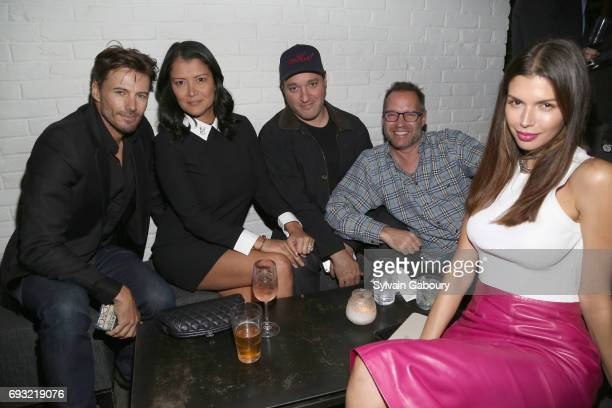 Alex Lundqvist Keytt Lundqvist Gregg Bello and Alejandra Cata attend Gucci The Cinema Society host the after party for Roadside Attractions' 'Beatriz...