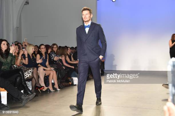 Alex Lundqvist on the runway at The Blue Jacket Fashion Show Benefiting Prostate Cancer Foundation at Pier 59 on February 7 2018 in New York City