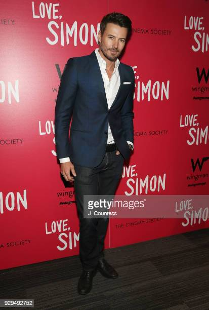 Alex Lundqvist poses for a photo at the screening of Love Simon hosted by 20th Century Fox Wingman at The Landmark at 57 West on March 8 2018 in New...