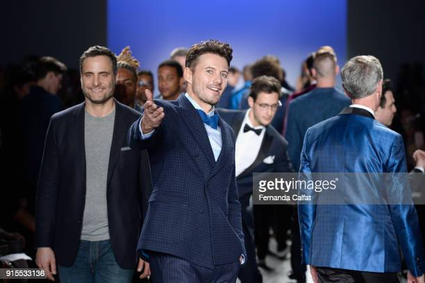 Alex Lundqvist walks the runway at the Blue Jacket Fashion Show to benefit the Prostate Cancer Foundation on February 7 2018 in New York City