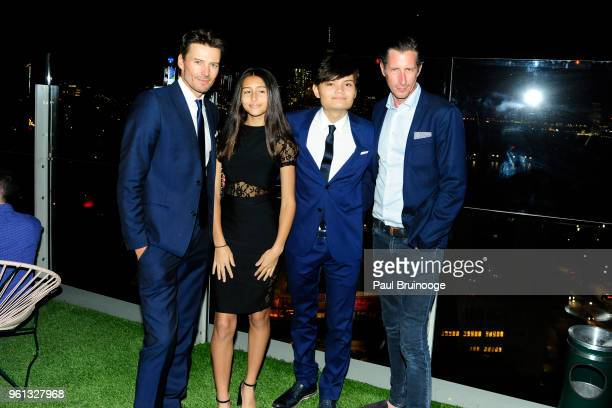 Alex Lundvist Karolina Lundqvist Alex Lundqvist and Carl Bundlach attend The Cinema Society With Nissan FIJI Water Host The After Party For 'Solo A...