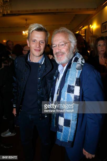 Alex Lutz and actor of the piece Bernard Murat attend 'La vraie vie' Theater Play at Theatre Edouard VII on September 18 2017 in Paris France