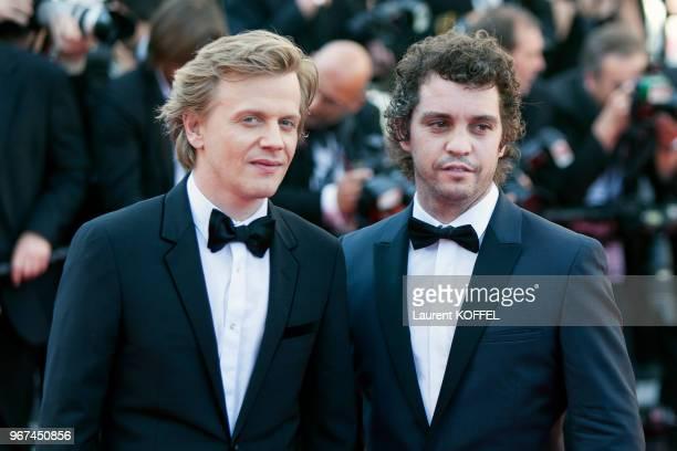 Alex Lutz et Bruno Sanches lors de la montée des marches pour la première du film 'Mia Madre' durant le 68eme Festival du Film au Palais des...