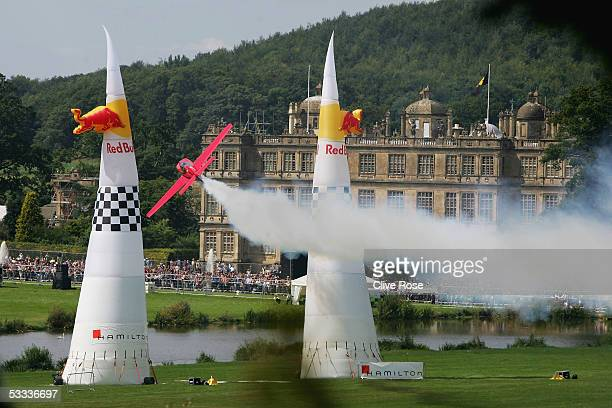 Alex Maclean of Spain in action during to the 5th Round of the Red Bull Air Race World Series at Longleat House on August 7 2005 in Longleat England