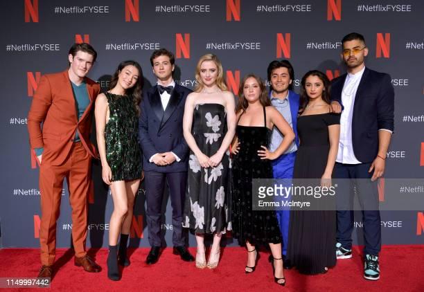 Alex MacNicoll Natasha Liu Bordizzo Alex Fitzalan Kathryn Newton Gideon Adlon Jose Julian Salena Qureshi Emilo Garcia Sanchez attends the Netflix...
