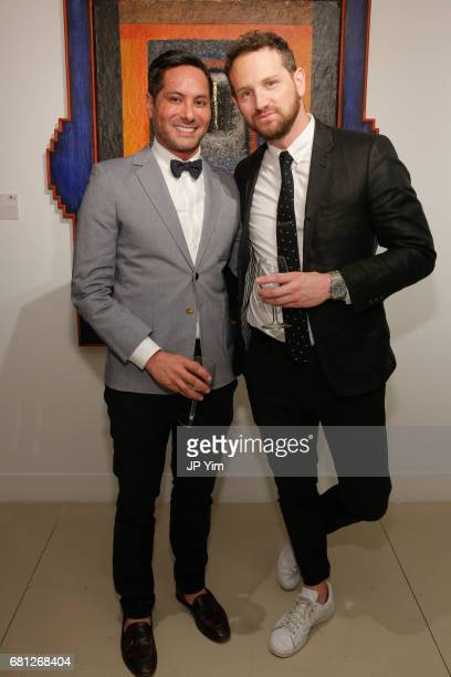 Alex Maderazo and Sean Stroupe attend 'A Magic Bus Cocktail Party' at DAG Modern on May 9 2017 in New York City