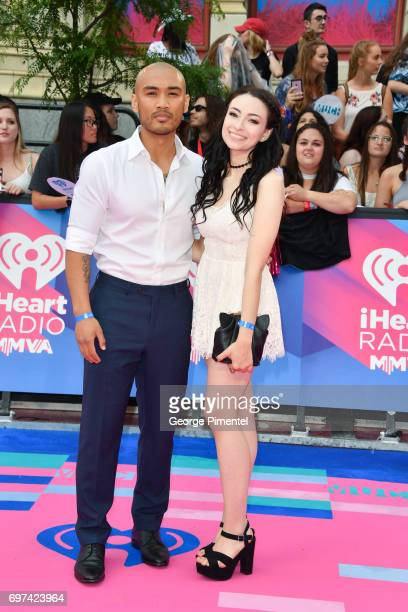 Alex Mallari Jr and Jodelle Ferland arrive at the 2017 iHeartRADIO MuchMusic Video Awards at MuchMusic HQ on June 18 2017 in Toronto Canada