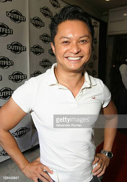 Alex Mapa arrives at the 2008 Outfest Closing Night Gala at The Orpheaum Theatre on July 21 2008 in Los Angeles California