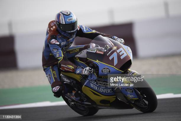 Alex Marquez of Spain and EG 00 Marc VDS heads down a straight during the Moto2 Moto3 Tests Day Three at Losail Circuit on March 03 2019 in Doha Qatar
