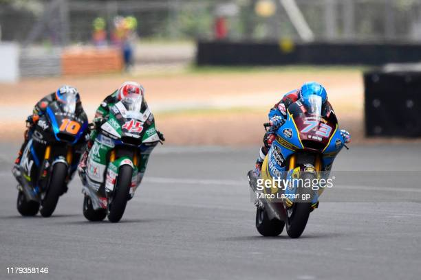 Alex Marquez of Spain and EG 00 Marc VDS leads the field during the Moto2 race during the MotoGP of Thailand Race on October 06 2019 in Bangkok...