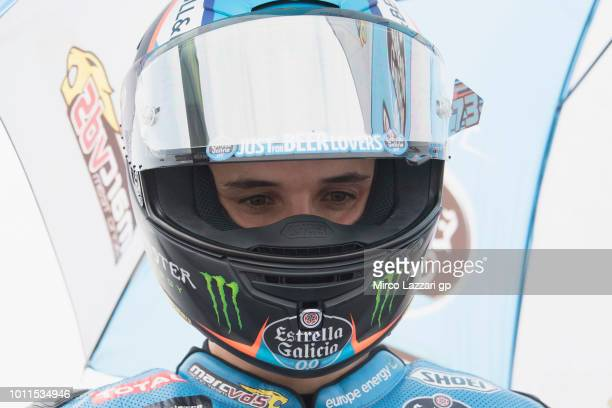 Alex Marquez of Spain and EG 00 Marc VDS prepares to start on the grid during the Moto2 Race during the MotoGp of Czech Republic Race at Brno Circuit...