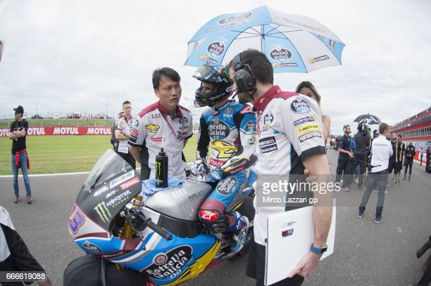 Alex Marquez of Spain and EG 00 Marc VDS prepares to start on the grid during the Moto2 race during the MotoGp of Argentina Race on April 9 2017 in...